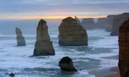 Los Doce Apóstoles en Australia. ¿Adivinas porqué se llaman así?
